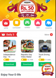 (Looto*) Download 9apps & Free Rs.50 Amazon Gift Vouchers(Unlimited Trick)