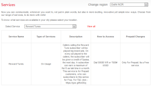 Airtel Reward Tune Service-Get Free Rs.15 Mobile Recharge Every Month