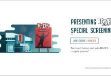 "Freecharge RAEES Offer- Transact Twice & Get Free 2 ""Raees"" Movie Tickets"