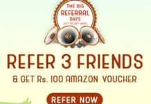 Crownit App Loot - Refer 3 Friends And Get Rs.100 Amazon Voucher