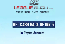 (Free) LeagueGuru.com - Rs.5 Free Paytm Cash on Just Signup