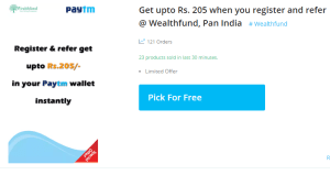 WealthFund Loot - Earn Upto Free Rs.205 Paytm Cash Rs. 5 On Sign Up & Refer(Proof Added)