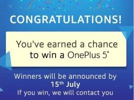 Amazon Secret Doors-Open & Win OnePlus 5 , OnePlus Bullet EarPhones