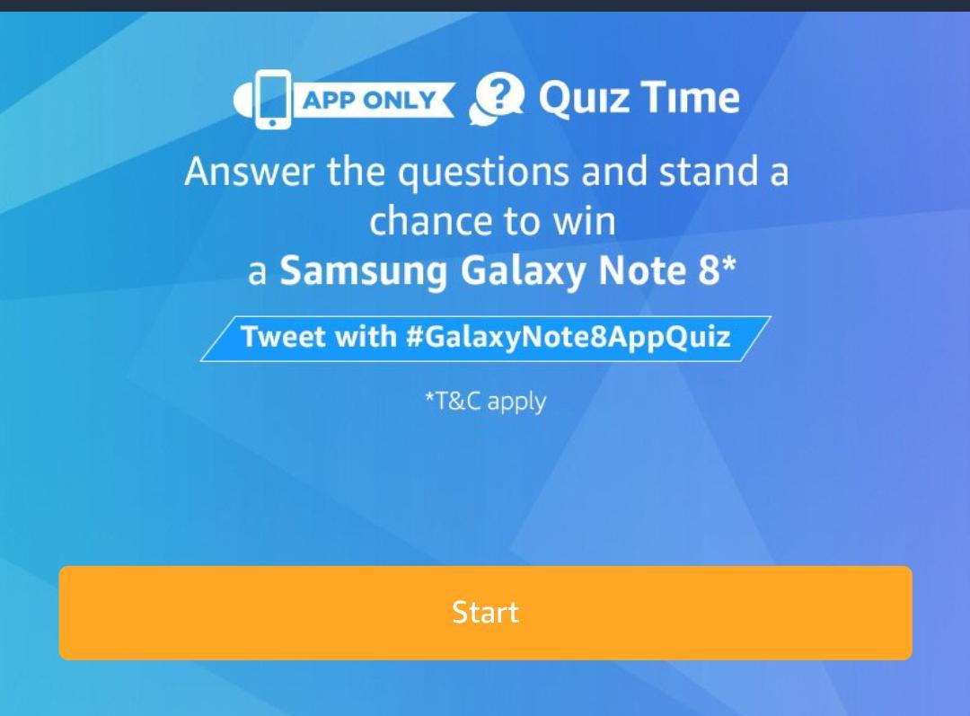 All Answers Amazon Galaxy Note 8 Quiz Answer Amp Win Samsung Galaxy Note 8