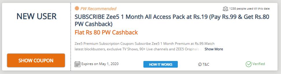 ZEE5 Free Premium Membership