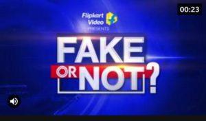 Flipkart Fake Or Not Answers