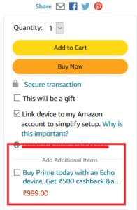 Amazon Eco Prime Membership Offer
