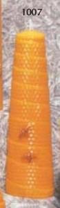 400 gr de cire, mèche moyenne, 19 x 7 cm.