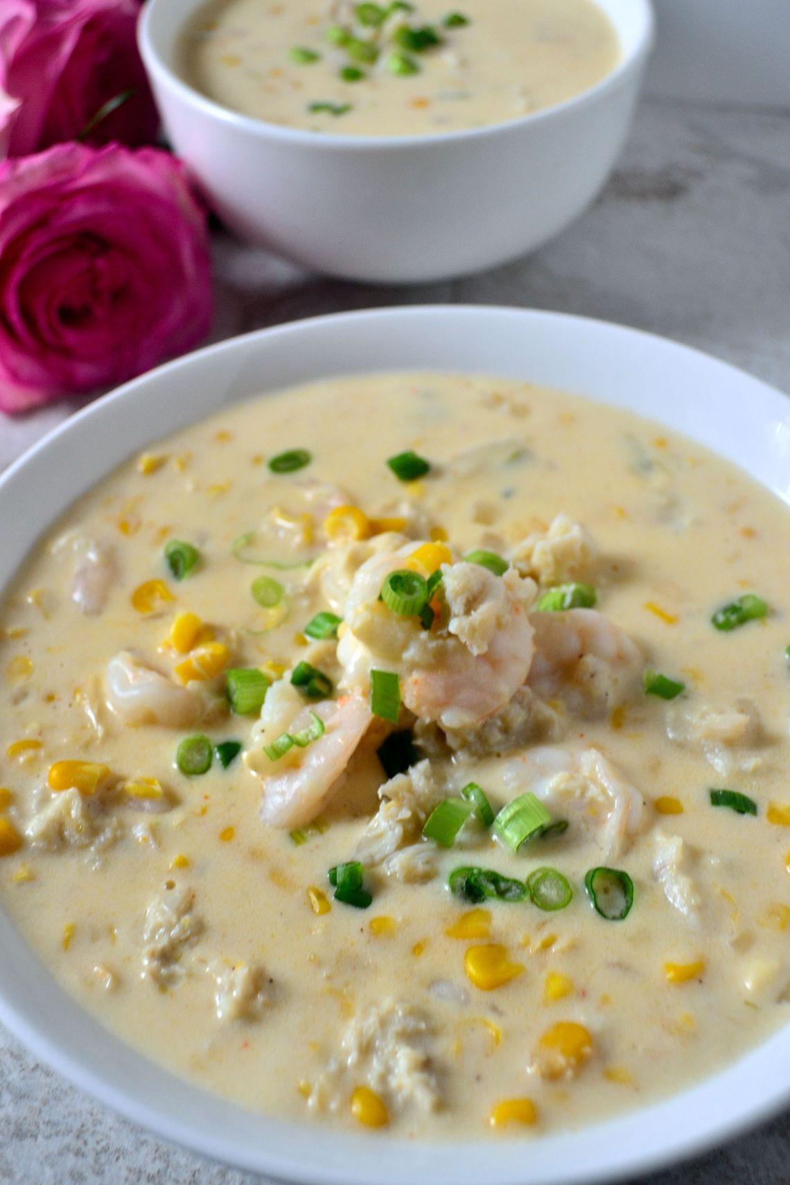 Shrimp, Crab, and Corn Bisque