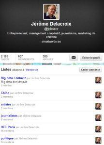 Exemple de listes Twitter