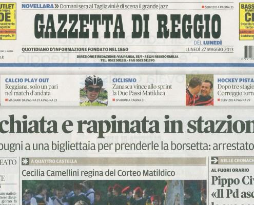 2013_05_27_Gazzetta_di_Reggio_PRIMA_PAGINA