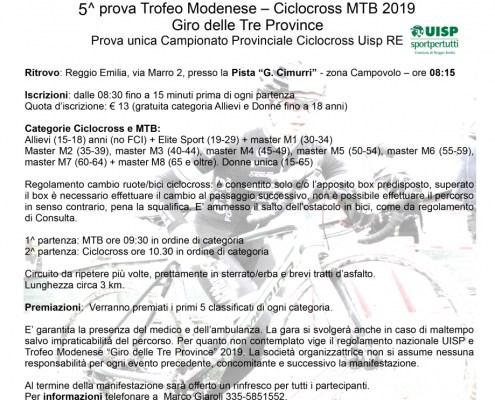 locandina cicloCrossMTB Cooperatori 24nov2019