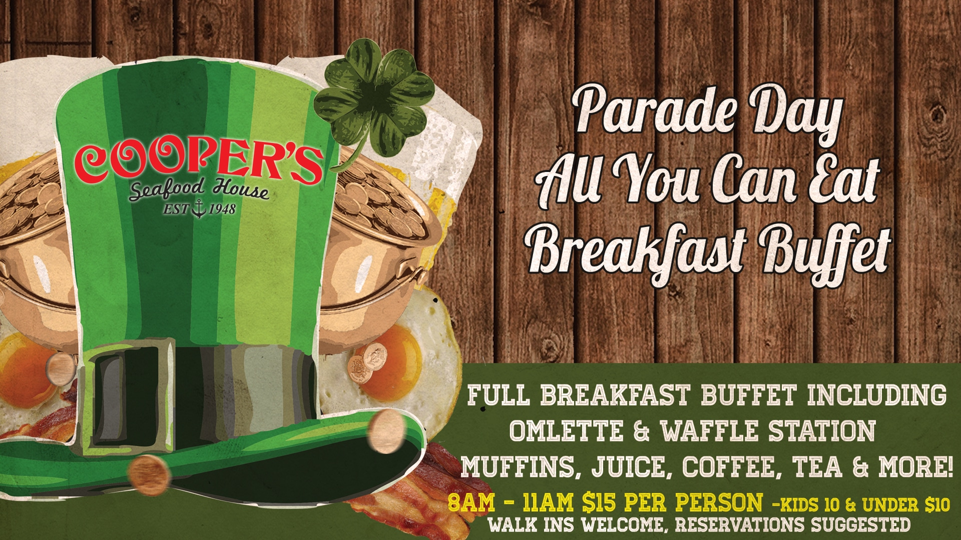 Awesome St Patricks Parade Day Breakfast Buffet Home Interior And Landscaping Ologienasavecom