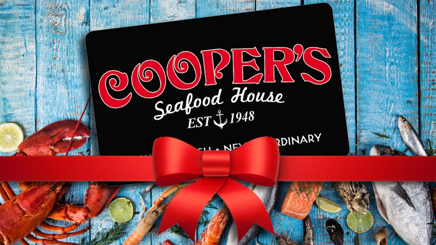 Enter today to win a $50 Cooper's git card or 4 quarts of soup!