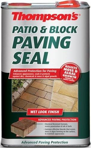 thompsons patio block paving seal 5l wet look