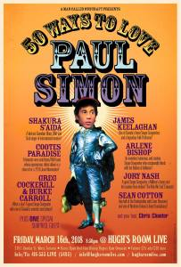 "Hugh's Room Live Poster for ""50 Ways to Love Paul Simon"" Show"