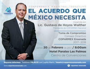Flyer Conferencia Gustavo de Hoyos W