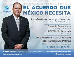 flyer conferencia Gustavo de Hoyos