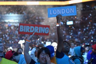 NEW YORK, NY - JULY 28: Fans attend Overwatch League Grand Finals - Day 2 at Barclays Center on July 28, 2018 in New York City. (Photo by Bryan Bedder/Getty Images for Blizzard Entertainment )