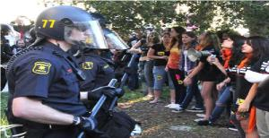 Berkeley Police Violently Attack College Kids With Batons 11/9/11