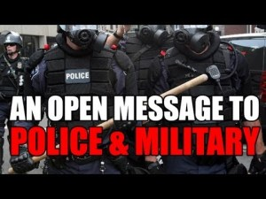 An Open Message to Police & Military – a SOLID video