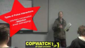 Know Your Rights! w/ Copwatch of East Atlanta