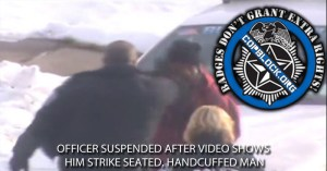Officer Suspended After Video Shows Him Strike Seated, Handcuffed Man