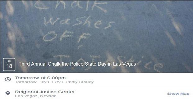 Chalk Police State Las Vegas