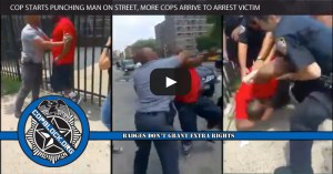 NY Cop Starts Punching Man on Street, More Police Arrive to Arrest Victim