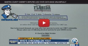 Martin County Sheriff's Deputies Use State Data Base Unlawfully