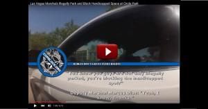 Las Vegas Marshals Block Handicap Space; Make It Very Clear They Don't Care About Disabled