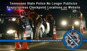 TN Highway Patrol Stops Posting Checkpoint Locations on Website after Continuous Bad Headlines