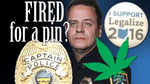 Cop Fired for Wearing Pro Marijuana Legalization Pin | CopBlock Radio