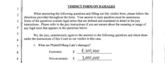 Hung Lam Jury Verdict Form