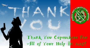 Thank You Copsuckers For All of Your Help In 2015!