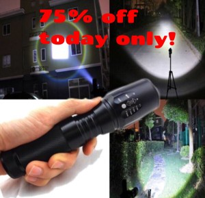 Attention people! The G700 Flashlight is  is so bright it can blind a bear! This flashlight is indestructible and the brightest light you have EVER seen. Order yours now at 75% OFF: LIMITED time only!! CLICK GRAPHIC NOW!