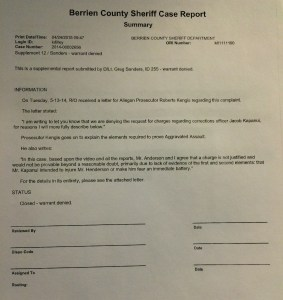 No Charges Allegan County Aaron Henderson