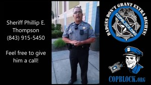 Myrtle Beach, South Carolina Police Sergeant Claims Badges DO Grant Extra Rights!