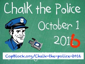 """National """"Chalk the Police Day"""" Approaches; Are You Ready?"""