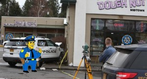 Oregon Cop Ran Red Light, Hitting a Truck and Pedestrian, Before Crashing into Donut Shop
