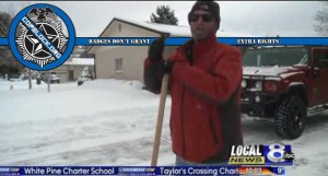 Man Ticketed for Helping His Neighbors Out by Plowing the Snow From in Front of Their Houses