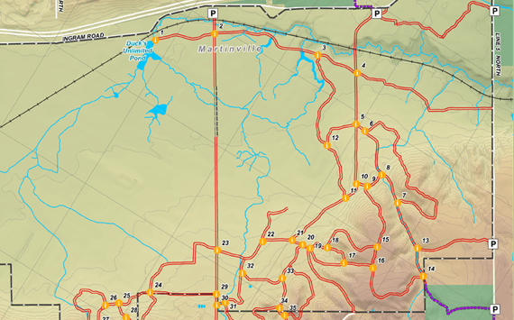 Copeland Trails map link
