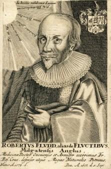 Portrait of Robert Fludd (1574-1637) - Unbekannter Künstler riproduzione  stampata o copia dipinta a mano e ad olio su tela