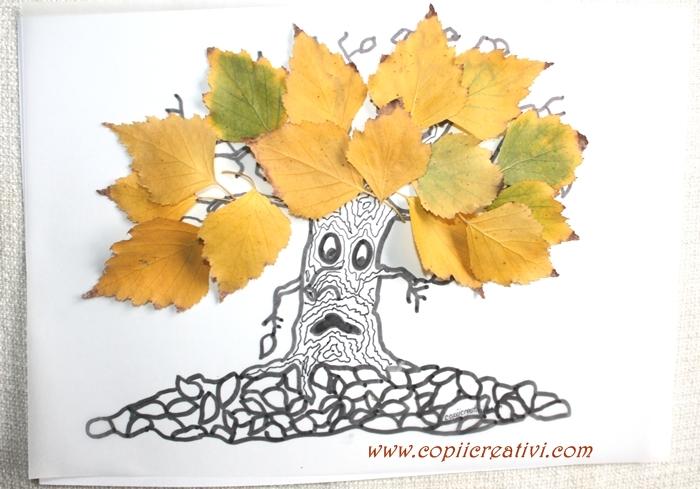 Sa ne jucam cu frunze - copacul desfrunzit