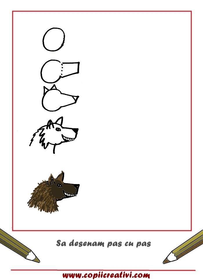 Desenam pas cu pas un lup