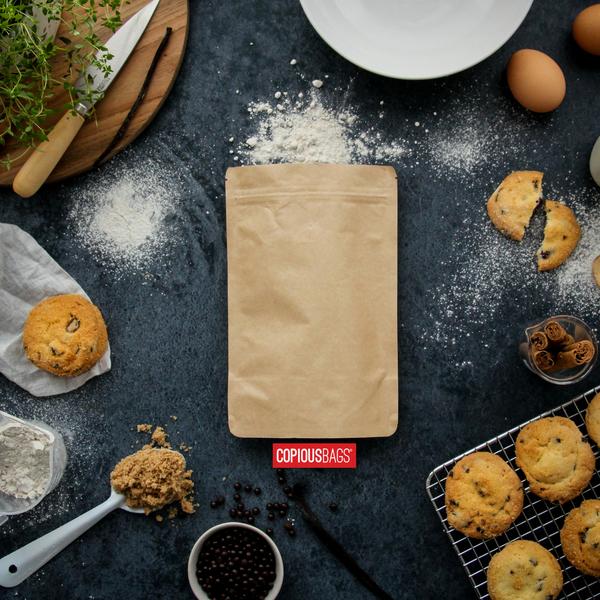 8 oz kraft stand up bag | baking mix packaging
