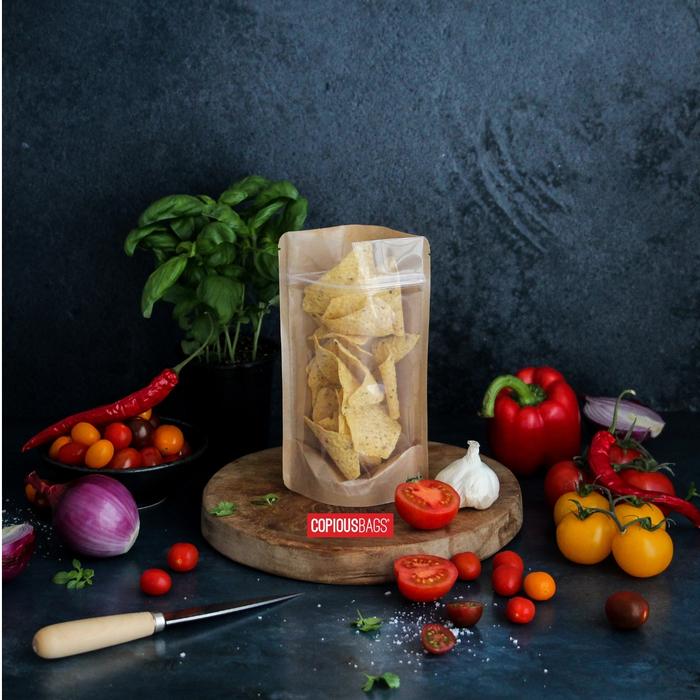 4 oz kraft bag with window | food packaging bag
