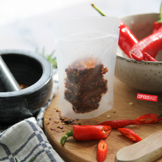 dried chili packaging bag stand up pouch