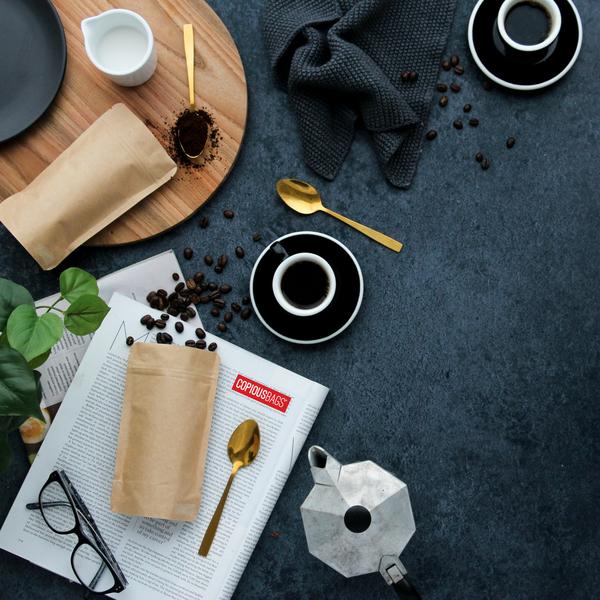 mini coffee bags kraft - coffee packaging bags