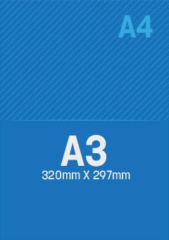 DIN A3: 297x320mm